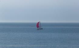 在Northernsea的风船 免版税库存图片