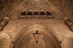 在Notre Dame大教堂里面 图库摄影