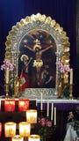在Notre Dame的祷告 库存照片