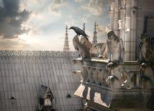 在Notre Dame的虚构物 库存照片