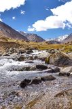 在nubra谷的淡水 库存照片