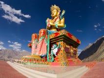 在Nubra谷的菩萨雕象 免版税库存图片