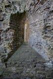 在Nunney城堡的Arrowslit窗口 免版税图库摄影
