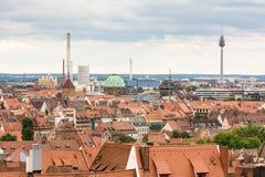 在Nurnberg的鸟瞰图 免版税库存照片