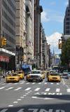 在NY街道的黄色出租汽车 免版税库存照片