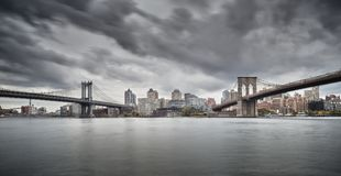 在NYC的两座桥梁 免版税图库摄影
