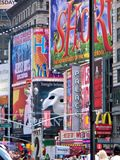 在NYC的广告 免版税库存照片