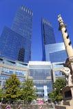在NYC的时代华纳中心 免版税库存照片