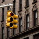 在NYC的红灯 免版税库存照片