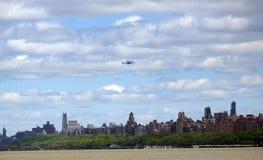 在NYC的飞行 库存照片