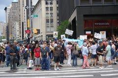 在NYC 226的2014年GoTopless天 免版税库存照片