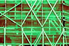 在o之外的印象深刻的轻的深绿带红色绿色框架 库存图片