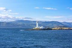 在Oban,苏格兰附近的灯塔 免版税库存照片