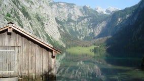 在Obersee的客舱 免版税库存照片