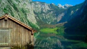 在Obersee的客舱 库存照片