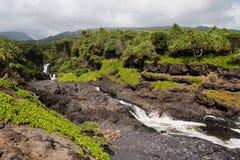 在Ohei的七个神圣的水池 免版税库存照片