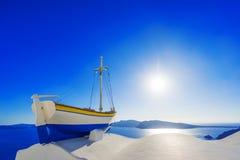 在Oia的视图在Santorini 免版税库存图片