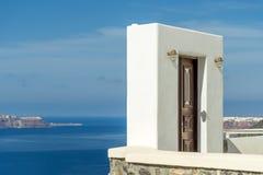 在Oia的视图在Santorini 免版税库存照片