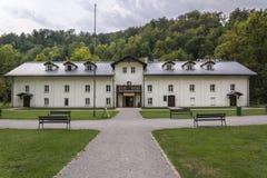 在ojców,波兰的老大厦 免版税库存照片
