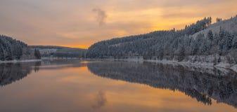 Oker水库, Harz山,德国 库存图片