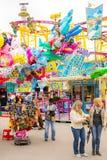 在Okteberfest的氦气气球在慕尼黑 免版税库存照片