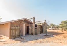 在Olifantsrus休宿所的洗净液设施 免版税库存照片