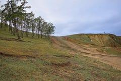 在Olkhon海岛上的小山  库存照片