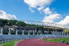 在Olympico体育场的训练场在罗马 库存图片