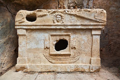 在Olympos的老坟茔在土耳其 免版税库存照片
