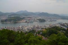 在Onomichi市日本的看法 免版税库存图片