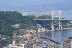 在Onomichi市的桥梁 库存图片