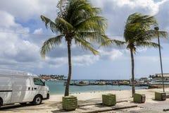 在Oranjestad的海湾 免版税图库摄影