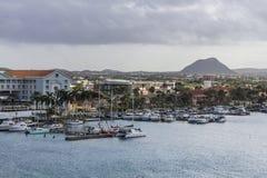 在Oranjestad的看法 免版税库存照片