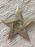 在origami星的完美 免版税库存图片