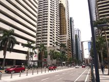 在Ortigas复合体的商业和居民住房 免版税图库摄影