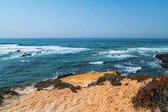 在ortugal的海岸 免版税库存照片
