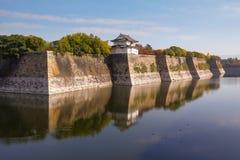 在Osak城堡,日本的警卫塔 库存图片