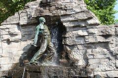 在Osnabrà ¼ ck的一个喷泉 库存照片