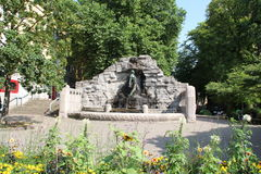 在Osnabrà ¼ ck的一个喷泉 免版税图库摄影