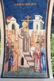 在Ostrog修道院的艺术品在达尼洛夫格勒附近 库存照片
