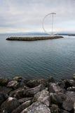 Ouchy港口,洛桑市,瑞士 免版税图库摄影