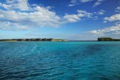 在Ouvea海岛,洛亚蒂群岛,新喀里多尼亚上的Lekiny海湾 图库摄影