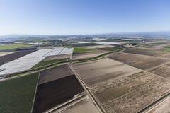 在Oxnard加利福尼亚附近的文图拉县农场 免版税库存图片