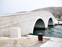 在Pag的桥梁 免版税库存照片
