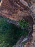 在Pai峡谷(孔Lan), Maehongson,泰国的峭壁谷 免版税库存图片