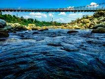 在palampur附近的桥梁 库存照片