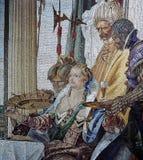 在Palazzo阴唇的马赛克,威尼斯,意大利 免版税库存照片