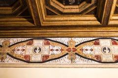 在Palazzo del Te围住装饰品在曼托瓦 库存照片