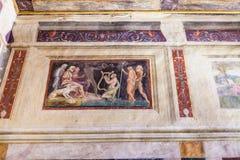 在Palazzo del Te围住装饰在曼托瓦 库存图片