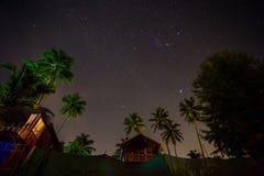 在Palolem海滩,果阿的星 库存图片